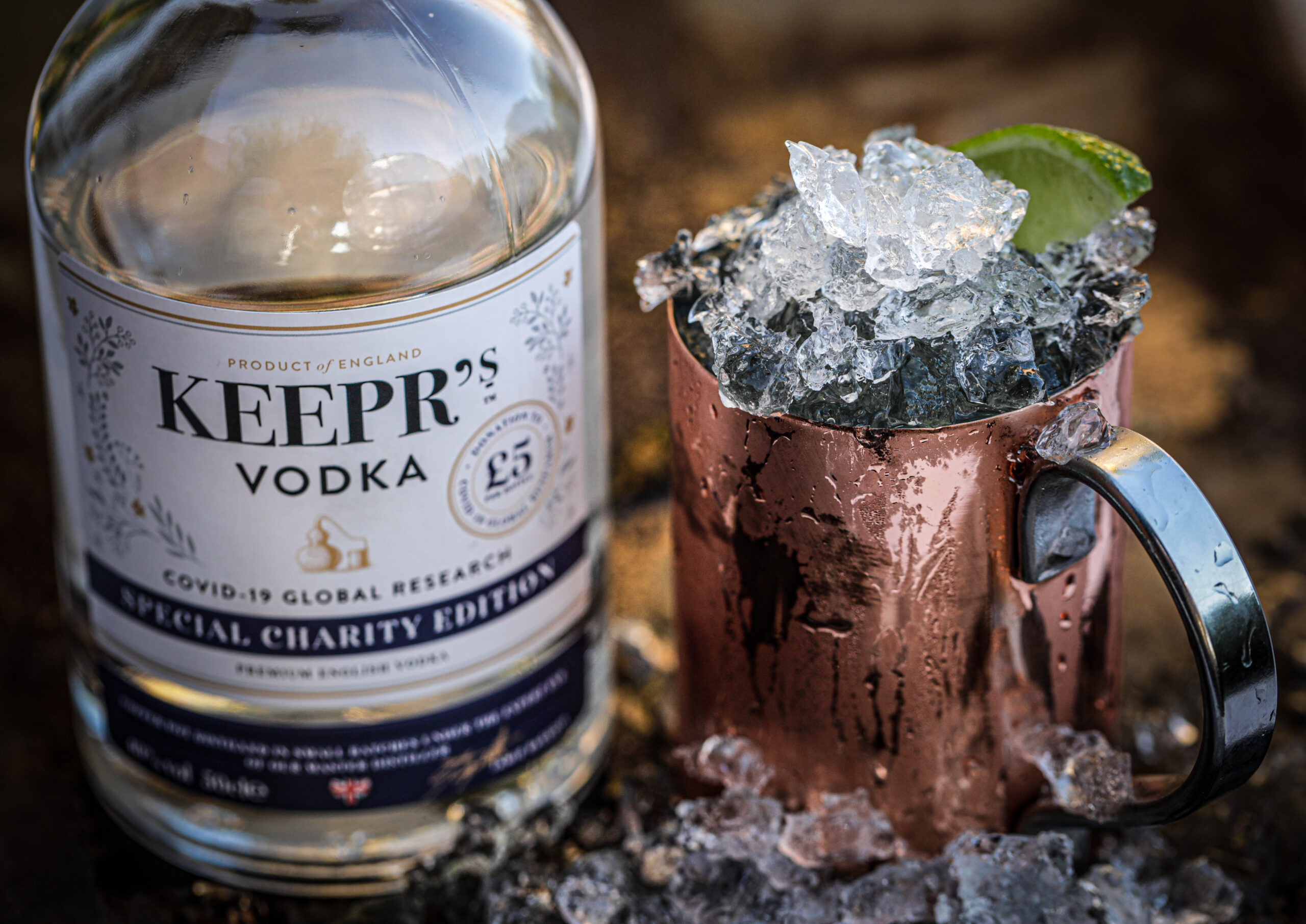 £5 from every bottle sold of Keeprs' Special Charity Edition Vodka will go to Covid-19 global research