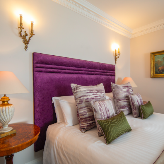 Rooms at Whittlebury Park are cosy and comfortable with super fast wifi, a free mini bar and fluffy robes among the luxuries