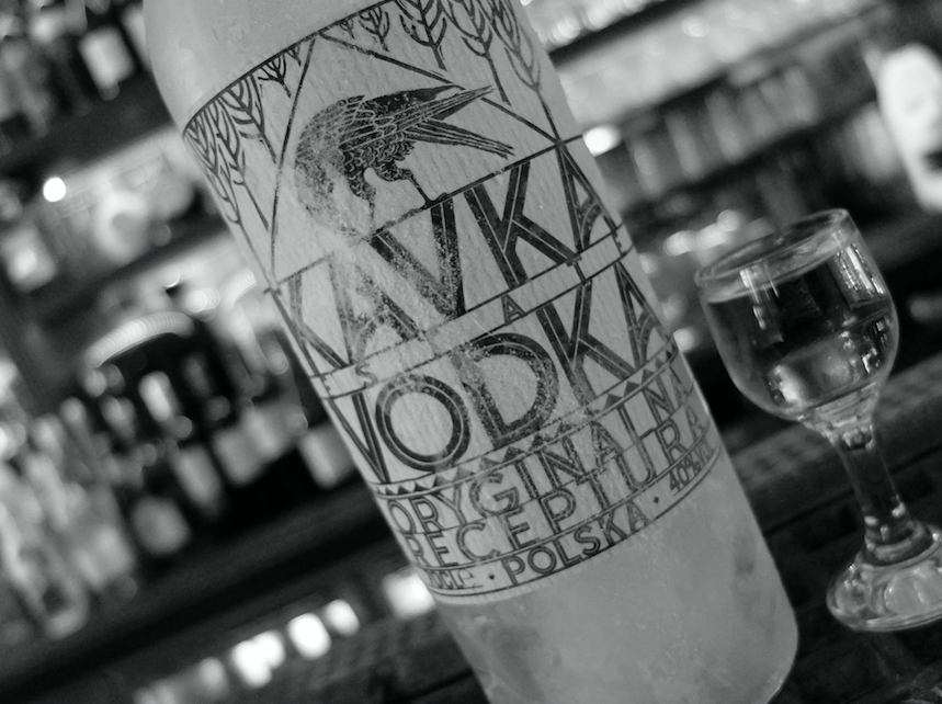 Kavka Vodka - a unique blend of rye and wheat spirits, made in Poland using traditional methods