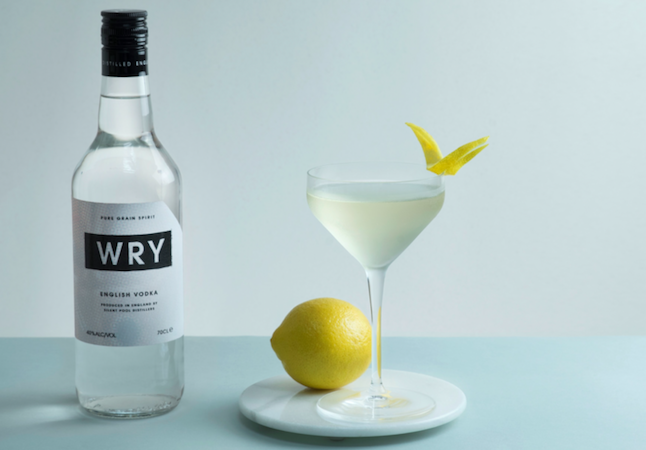 Wry Grain English Vodka is made from 100% rye grain spirit using a unique distillation process  and filtered through traditional local charcoal