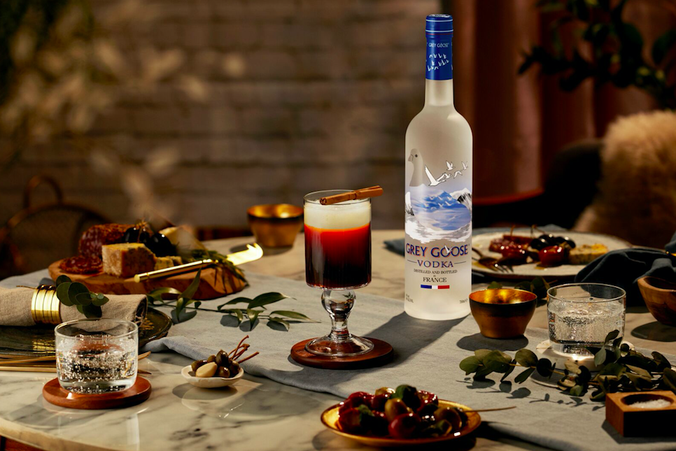 GREY GOOSE super-premium vodka has the faint aroma of pepper and nut with herbaceous undertones