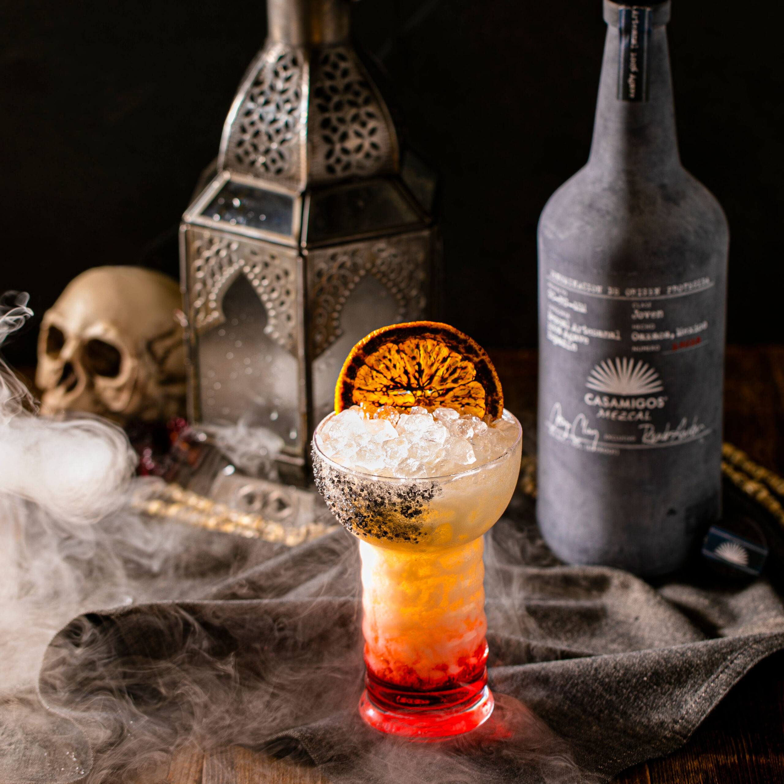 Kooky Casamigos Cocktails And a Spooky Halloween at Crazy Pizza (Pictured Smoky Halloween Colada)