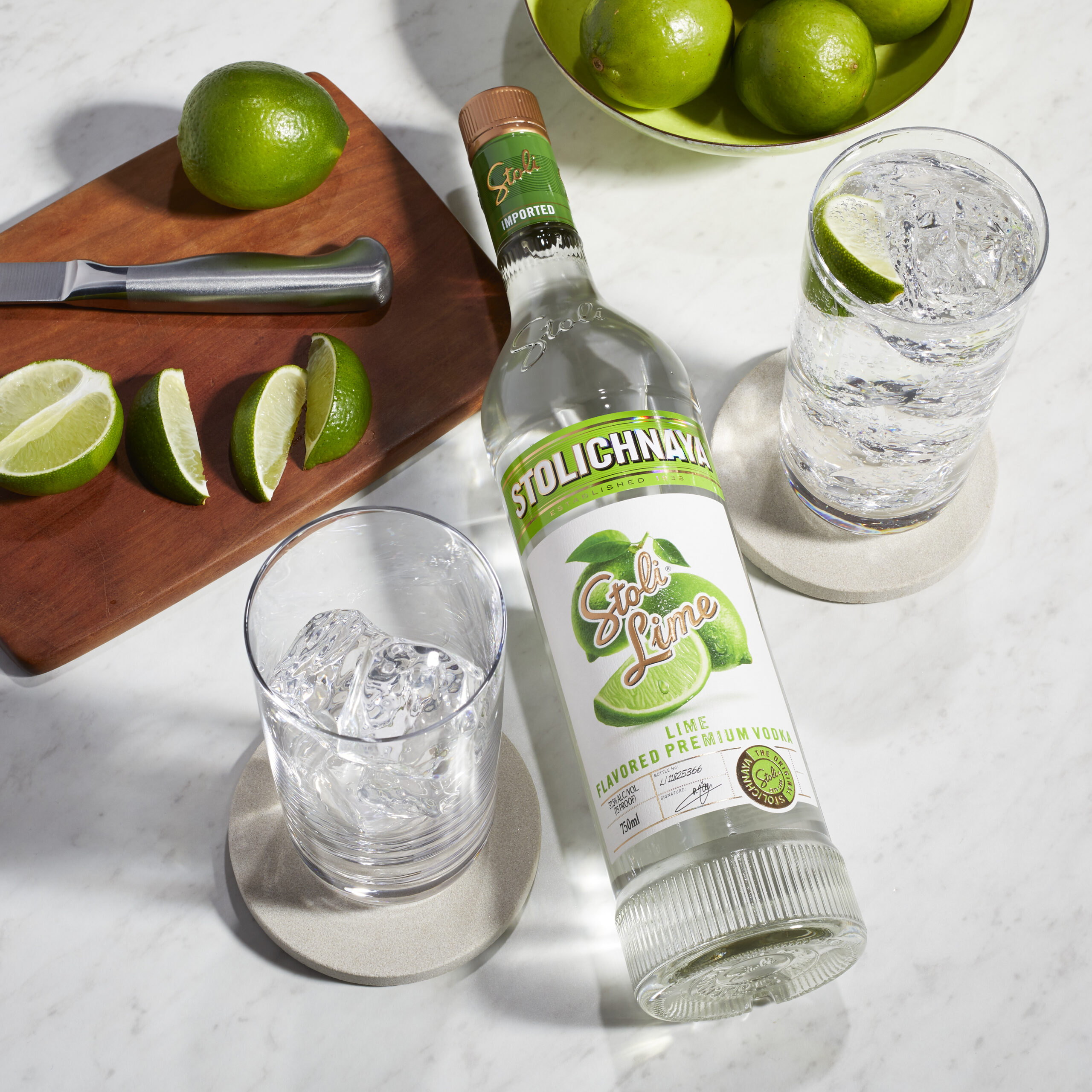 Stoli Lime Vodka launches exclusively in over 700 Tesco stores this month, Stoli Lime (RRP £20, 70cl bottle)