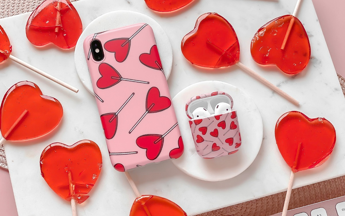 Top 5 Christmas Gifts from Coconut Lane - Candy Hearts Airpods Case £14