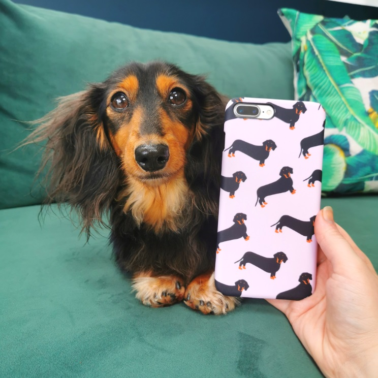 Top 5 Christmas Gifts from Coconut Lane -Pink Dachshund Phone Case £14