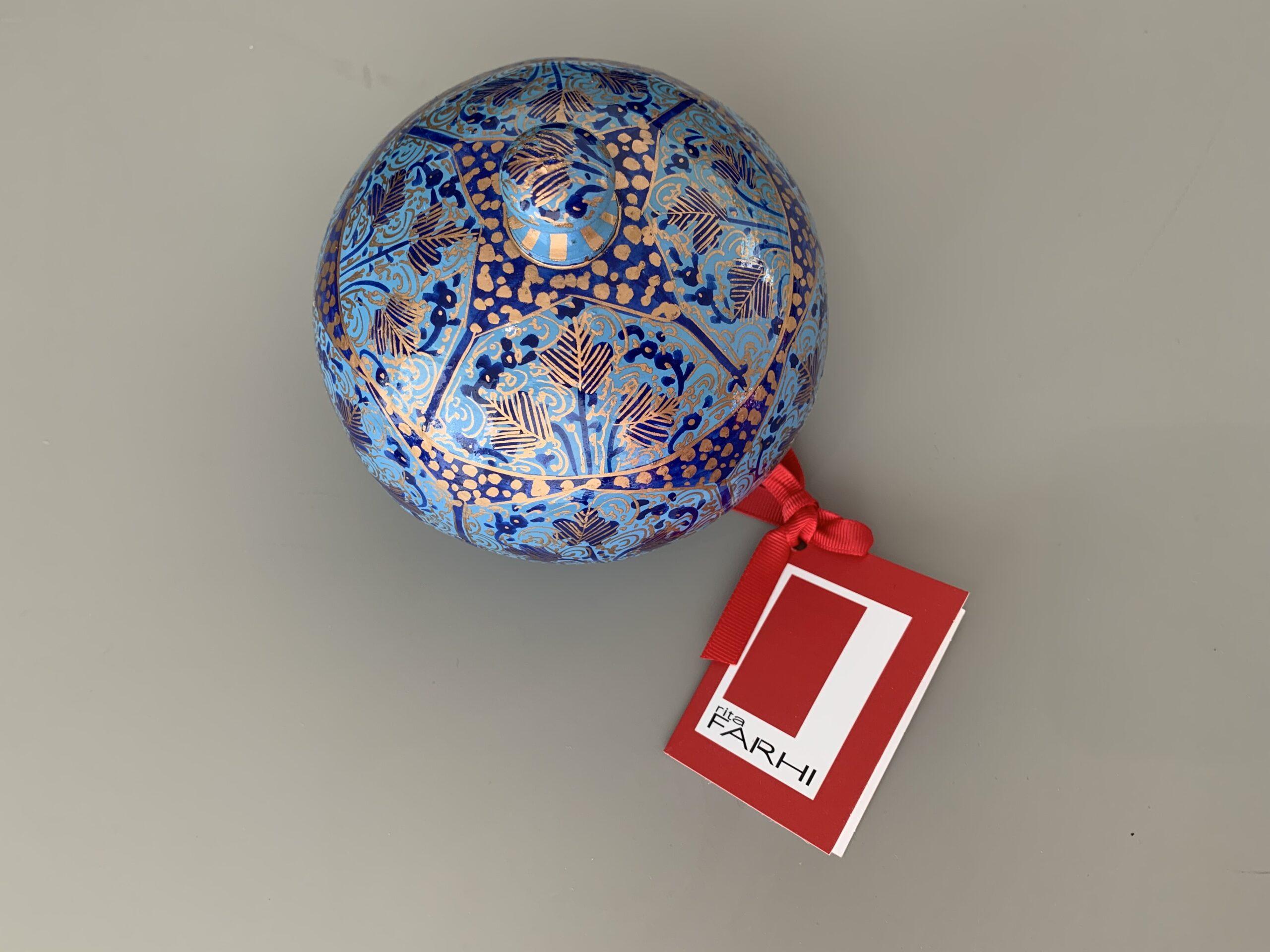 Rita Fahri decorative papier mache ornamental bonbonnières with almonds or pecans, £15