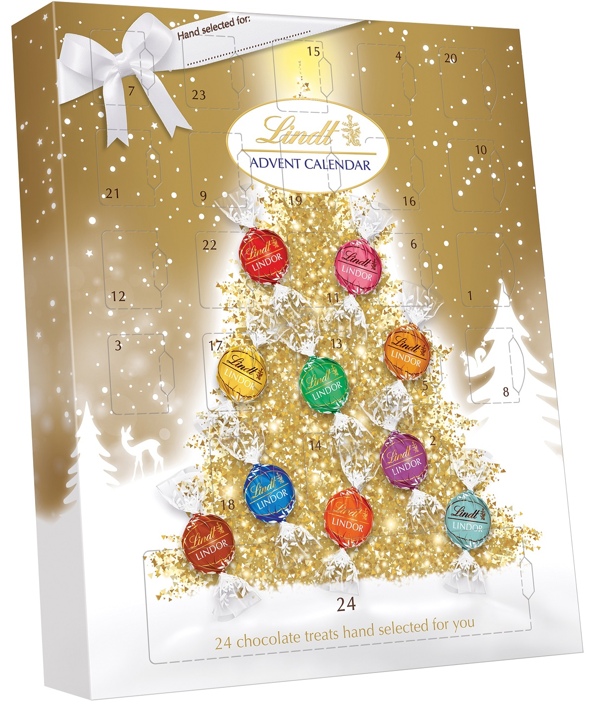 The LINDT Pick & Mis Advent Calendar where you'll get a surprise from their range of 32 flavours, every single da