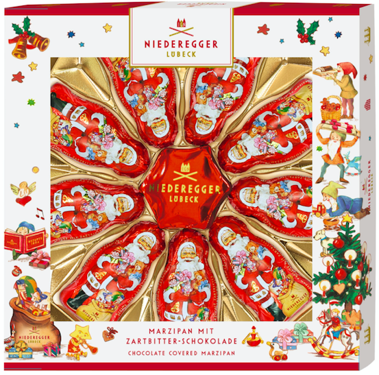 Niederegger Lübeck: Chocolate Santas and Stars Gift Box £9