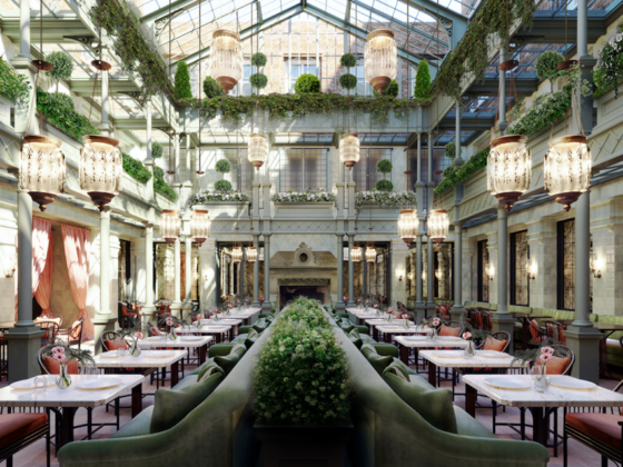 NoMad London's atrium restaurant