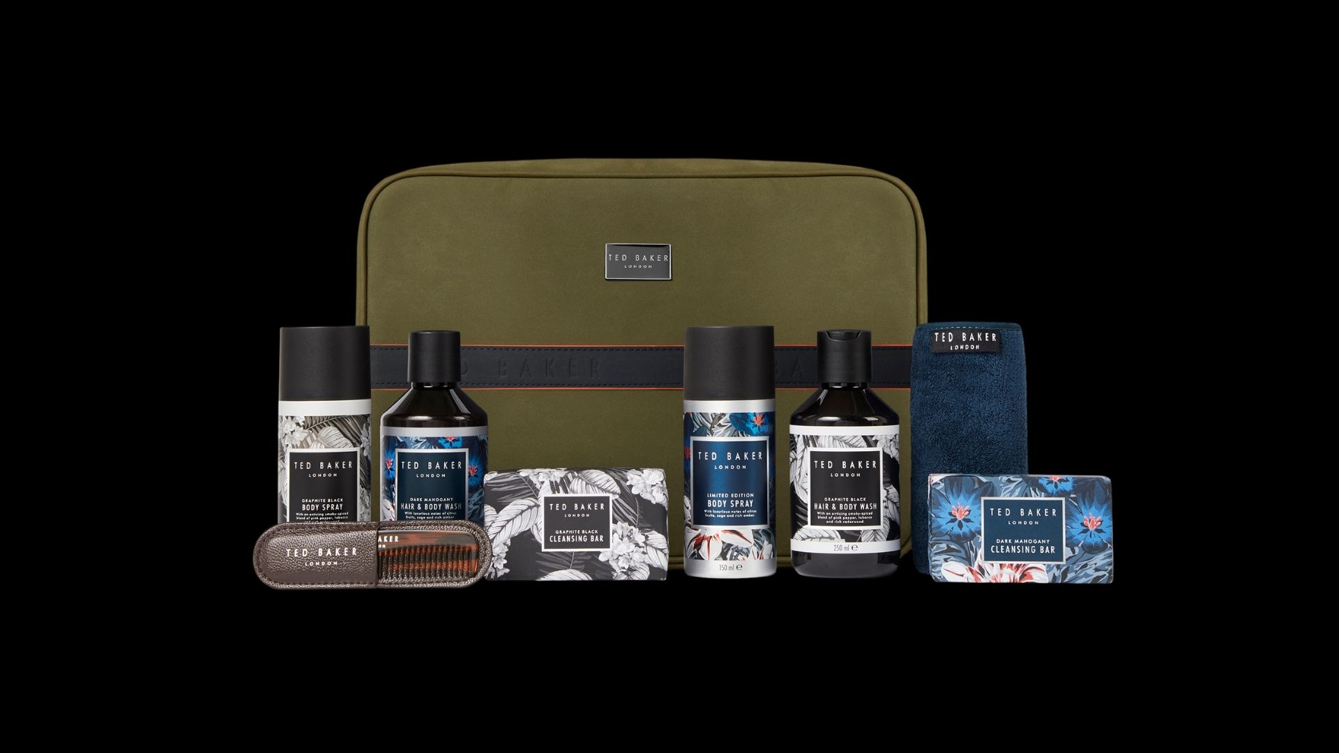 Christmas Gifts For Him: Ted Baker - Ted About Town Toiletries Travel Pouch Christmas Gift Set