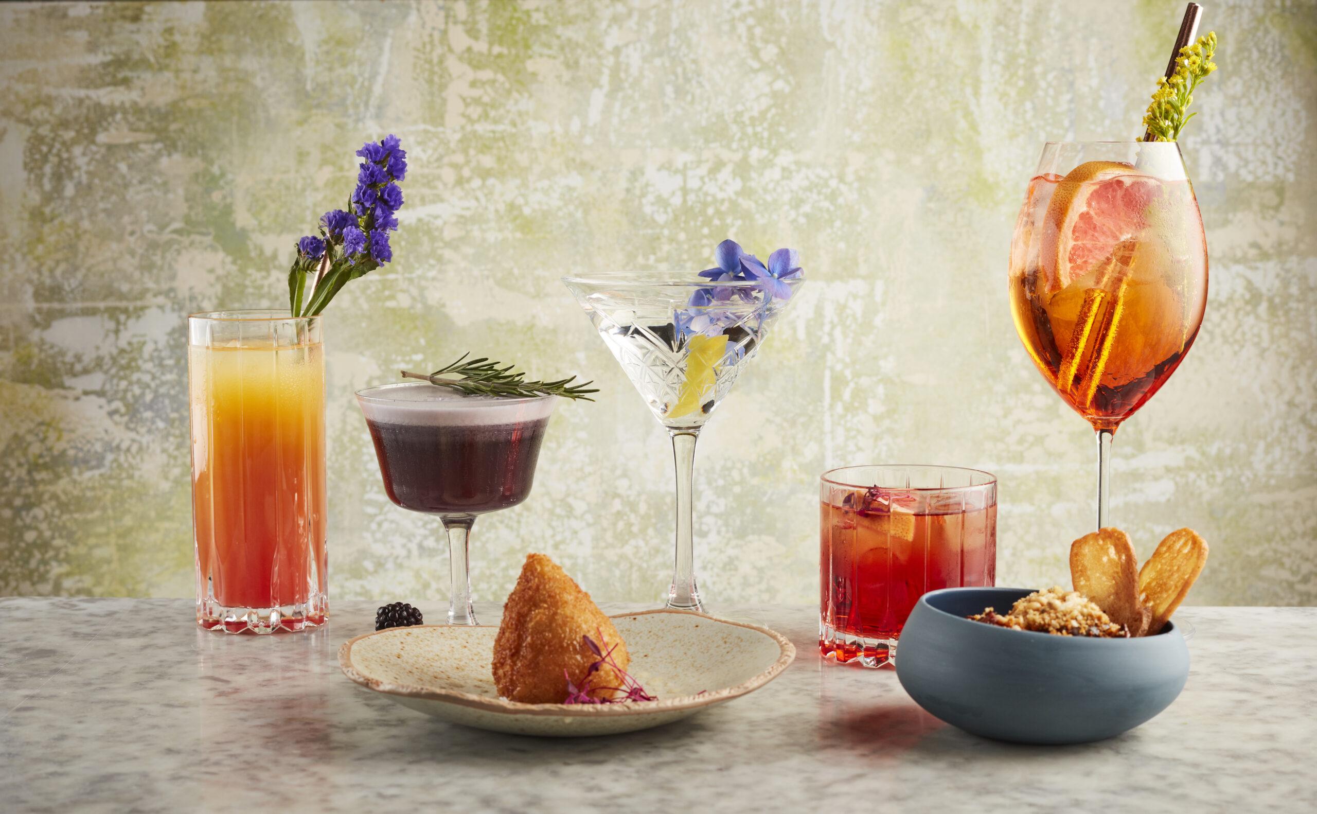 Cocktails and small plates at Como Garden, Kensington (Photo Credit: Jodi Hinds Food Photographer London)