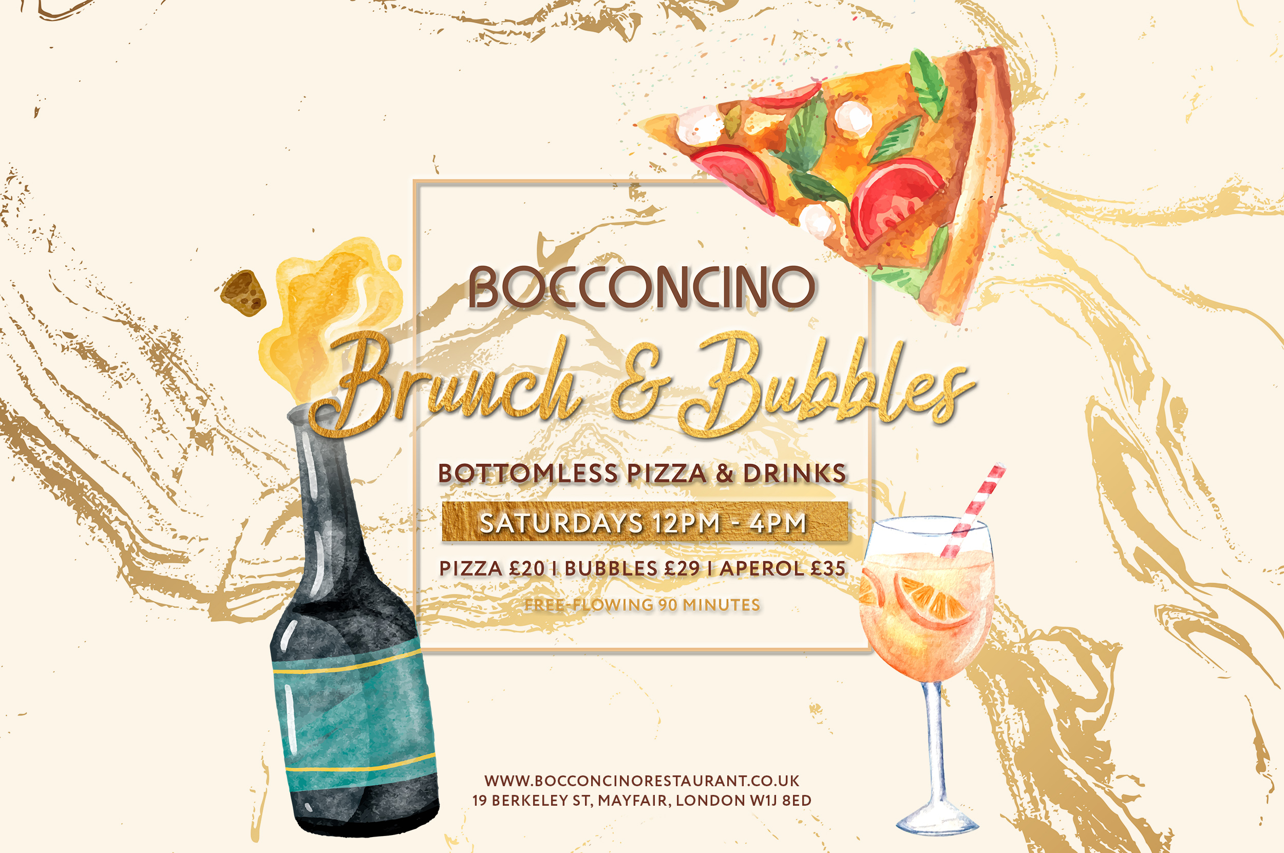 The Luxe List December 2020: Brunch and Bubbles at Bocconcino in Mayfair