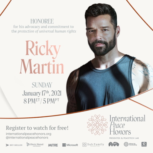 The Luxe List January 2021 - Ricky Martin to be honoured at The International Peace Honors