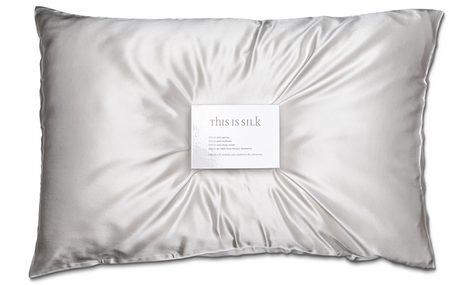 Gifts to Buy a Friend Who's Going Through Cancer Treatment - A silk pillow from This is Silk will soften skin and hair