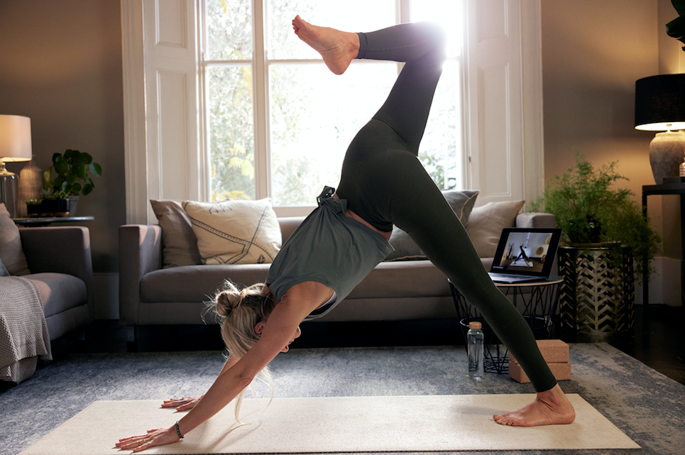 Heartcore's At Home digital workouts include pilates
