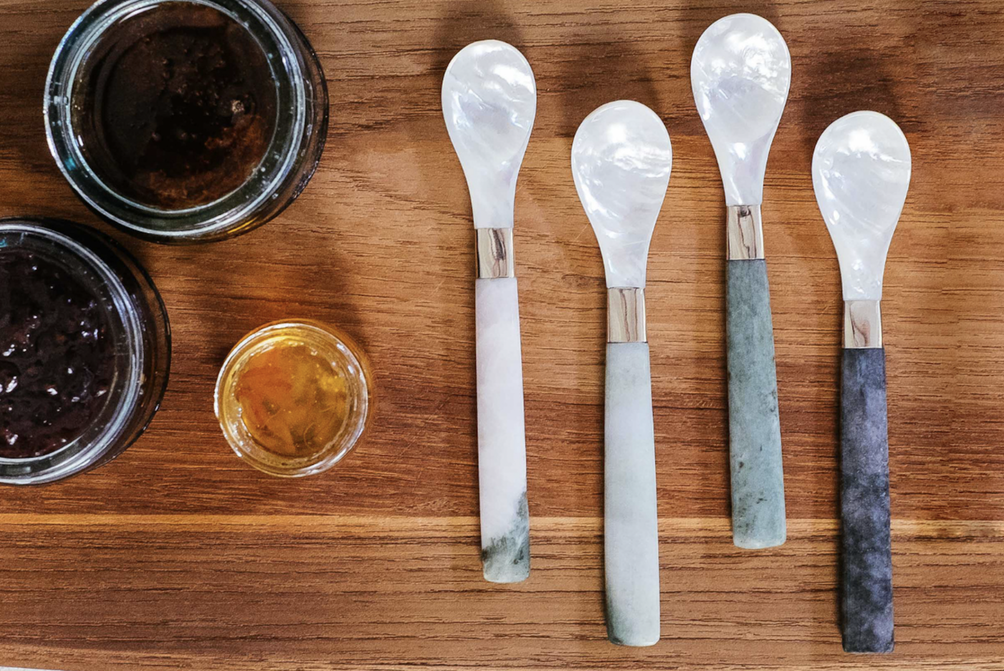 Gorgeous!  Kalinko Minshin Jam Spoons for added luxury at your Valentine's Day breakfast