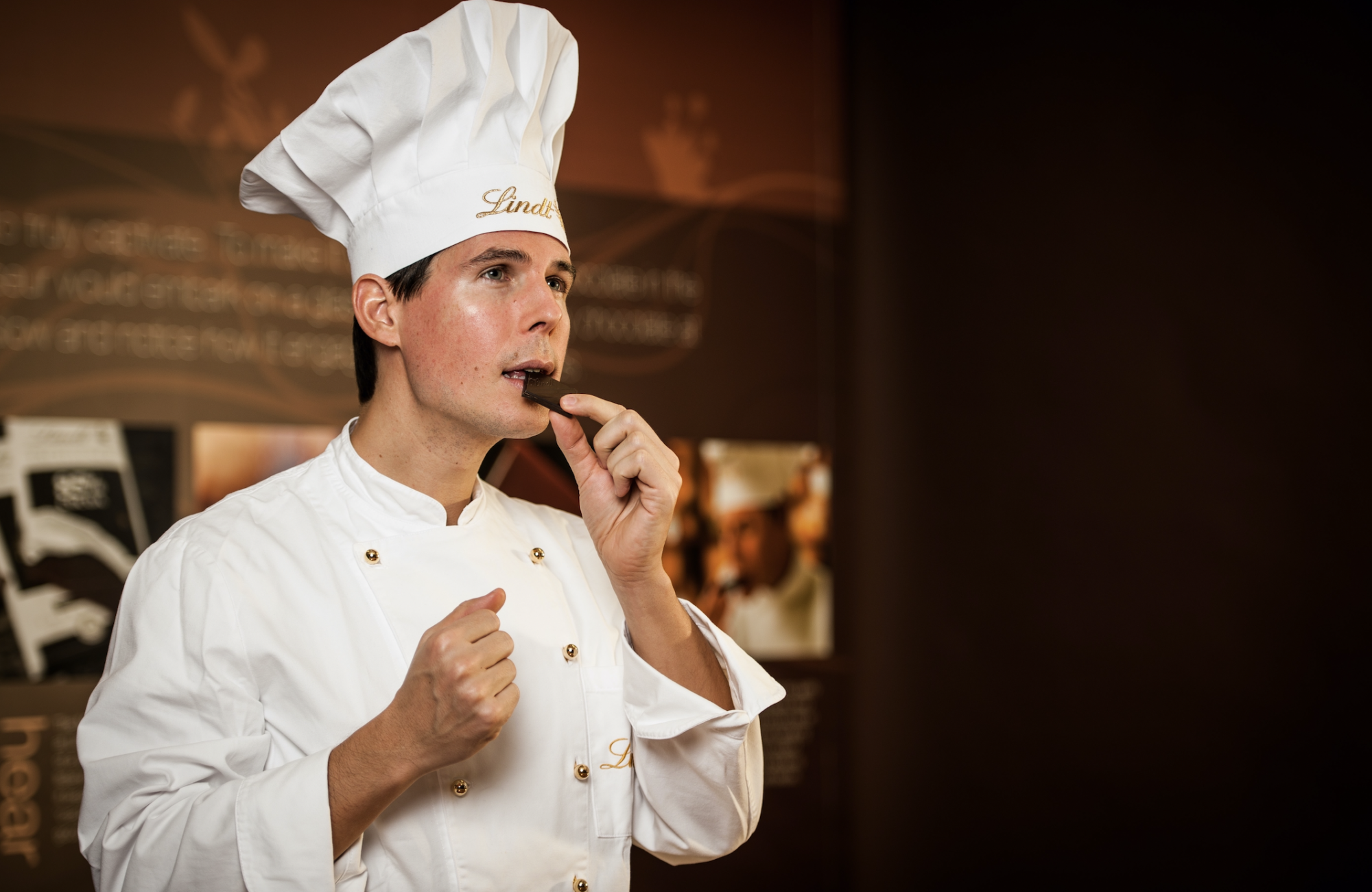 LINDT Master Chocolatier Stefan Bruderer - a self confessed chocolate obsessive since he was six years old!