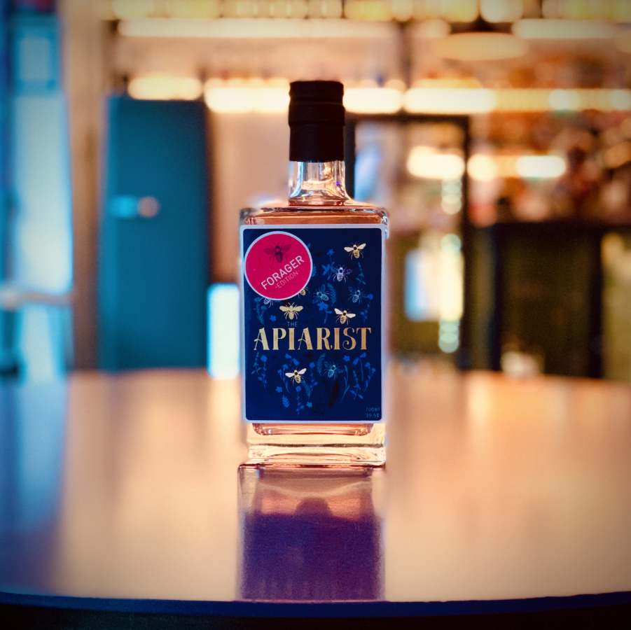 The Apiarist Gin (Forager's Edition) infused with honey and botanicals like juniper, coriander and lemon peel