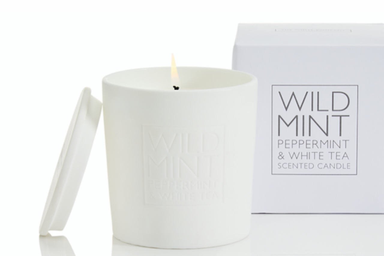 Wild Mint Candle from The White Company to combat nauseousness
