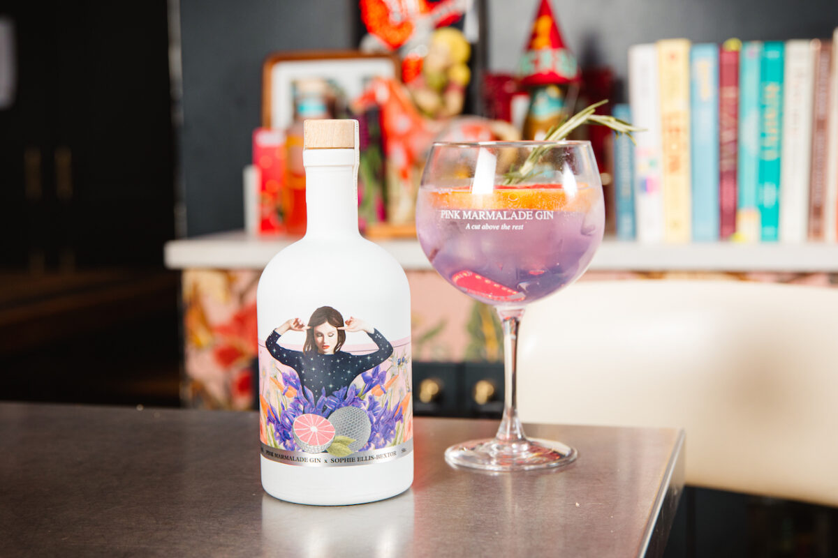 The perfect Mother's Day gift for gin lovers - Pink Marmalade's limited edition Sophie Ellis Bextor Gin (Photo Credit Rob Jones)