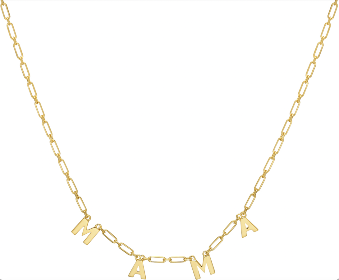 The perfect gift - This gorgeous gold or silver MAMA necklace from Lola Rose