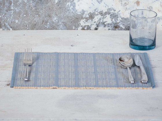 The Kalinko Kaya Placemats in Indigo will add some style to your Valentine's Day breakfast!