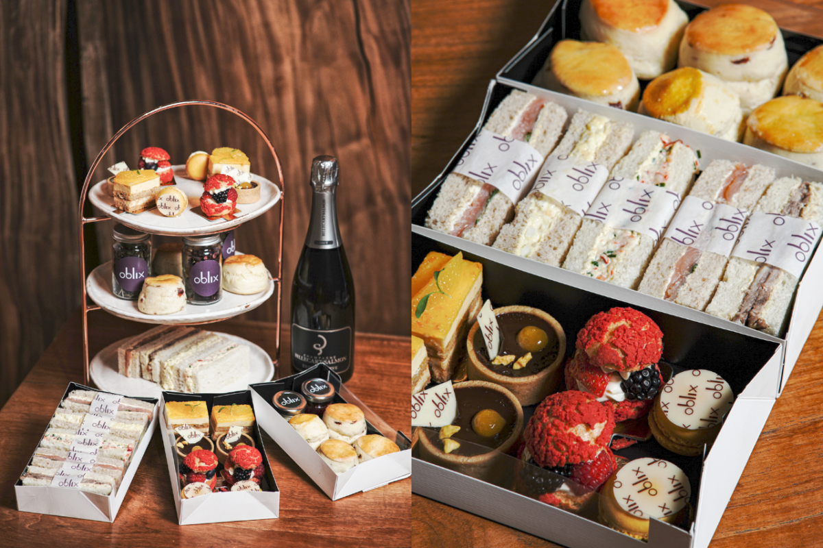 The Luxe List February 2021: Oblix at The Shard are now offering delivery of their gorgeous Afternoon Tea