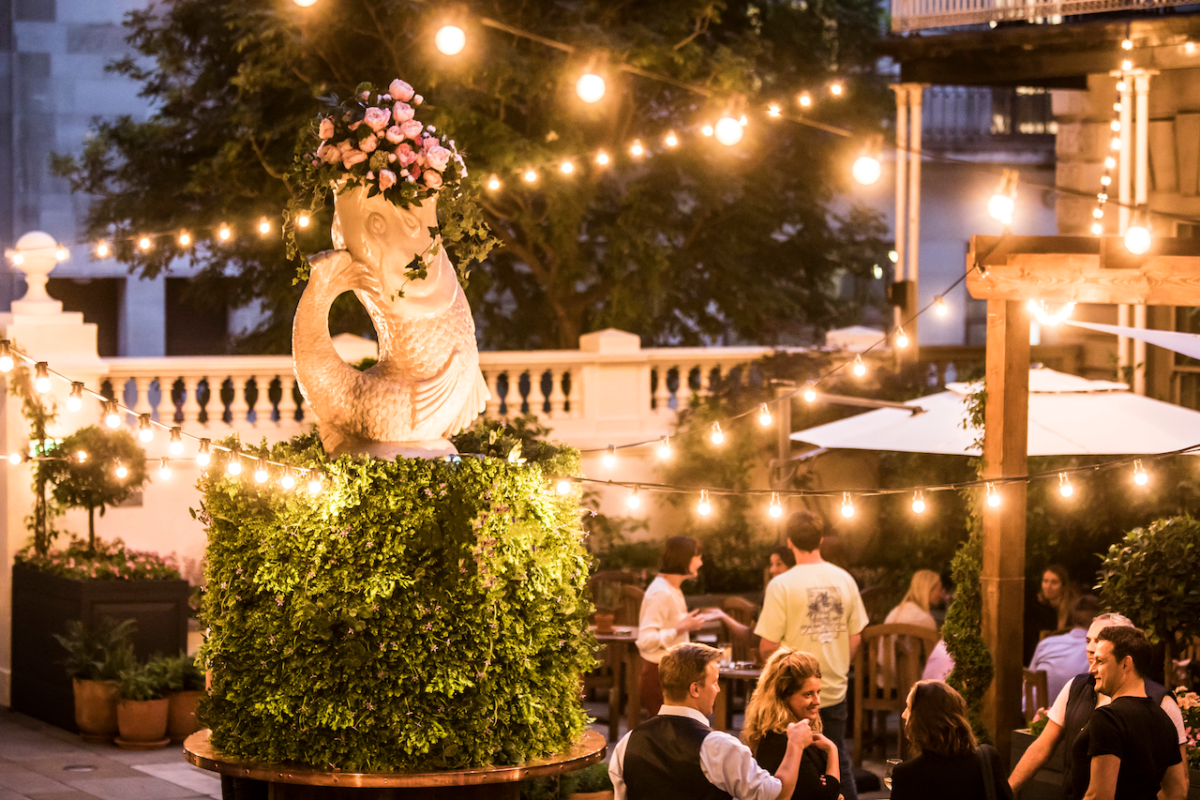 Outdoor Terraces in London to Get Dressed Up For: The Wigmore Summer Terrace and Garden at The Langham