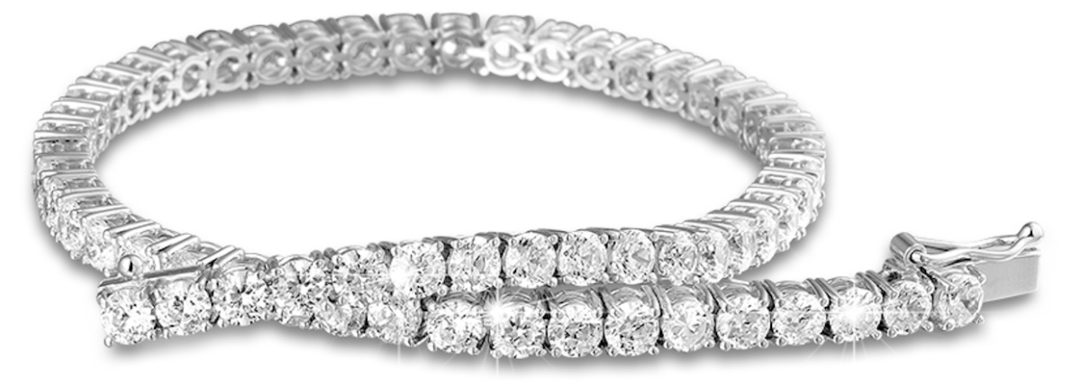 The 3.50 carat diamond tennis bracelet in 18 karat white gold is one of BAUNAT's best-selling items & the perfect self-gifting treat