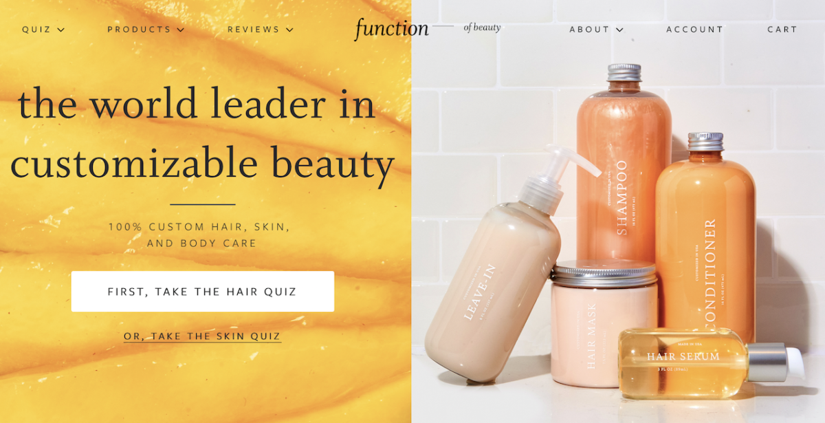 Bespoke Hair Care from Function of Beauty - Take a quick quiz and then receive your products in the post!