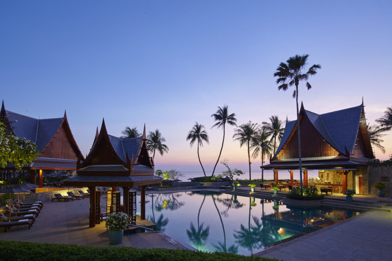 Luxury Destinations: Thailand Opens to Tourists This Summer - the pool at Chiva Som, Hua Hin, Thailand