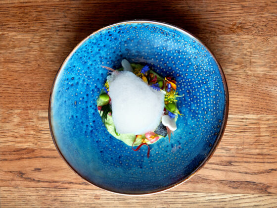 Namayasai Garden Salad at Maru - one of London's hottest new openings this year (Photo Credit: Milo Brown)