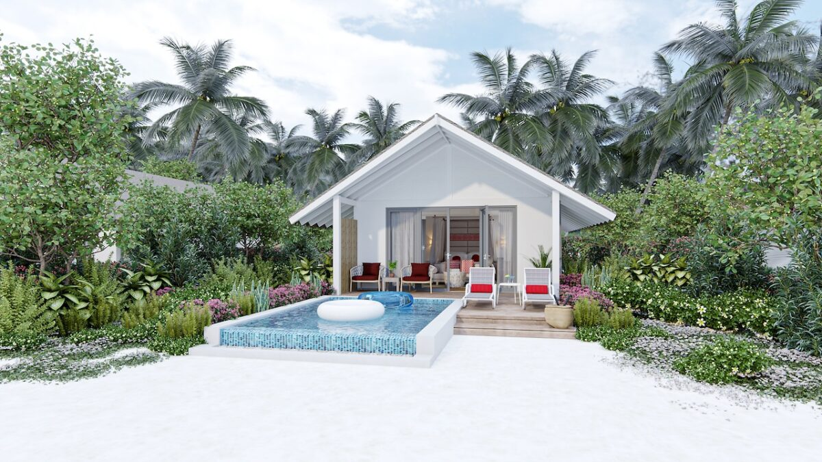 There's a range of luxurious accommodation options at Cora Cora Maldives including the Beach Villa