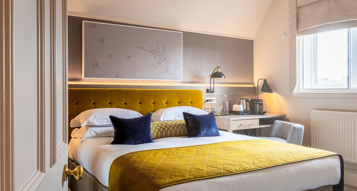 Boutique style bedrooms at Sloane Place offer the ultimate in luxury across five room categories