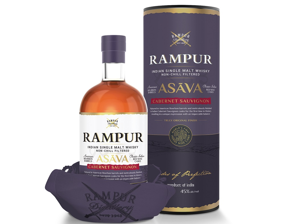 Rampur Indian Single Malt Whisky has been matured in American bourbon barrels and finished in Indian cabernet sauvignon casks for the first time in history
