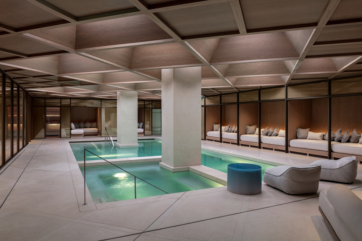 This London hotel is so hot, you'll be grateful for the stunning Retreat Pool area at The Londoner, Leicester Square (Photo Credit: Andrew Beasley)