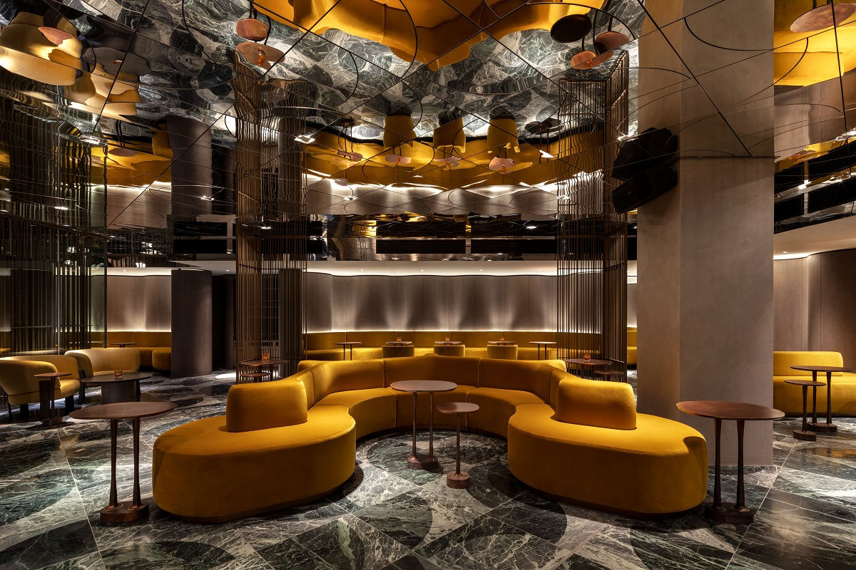 This London hotel is seriously HOT! The Green Room at the new Londoner Hotel, Leicester Square (Photo Credit Andrew Beasley)