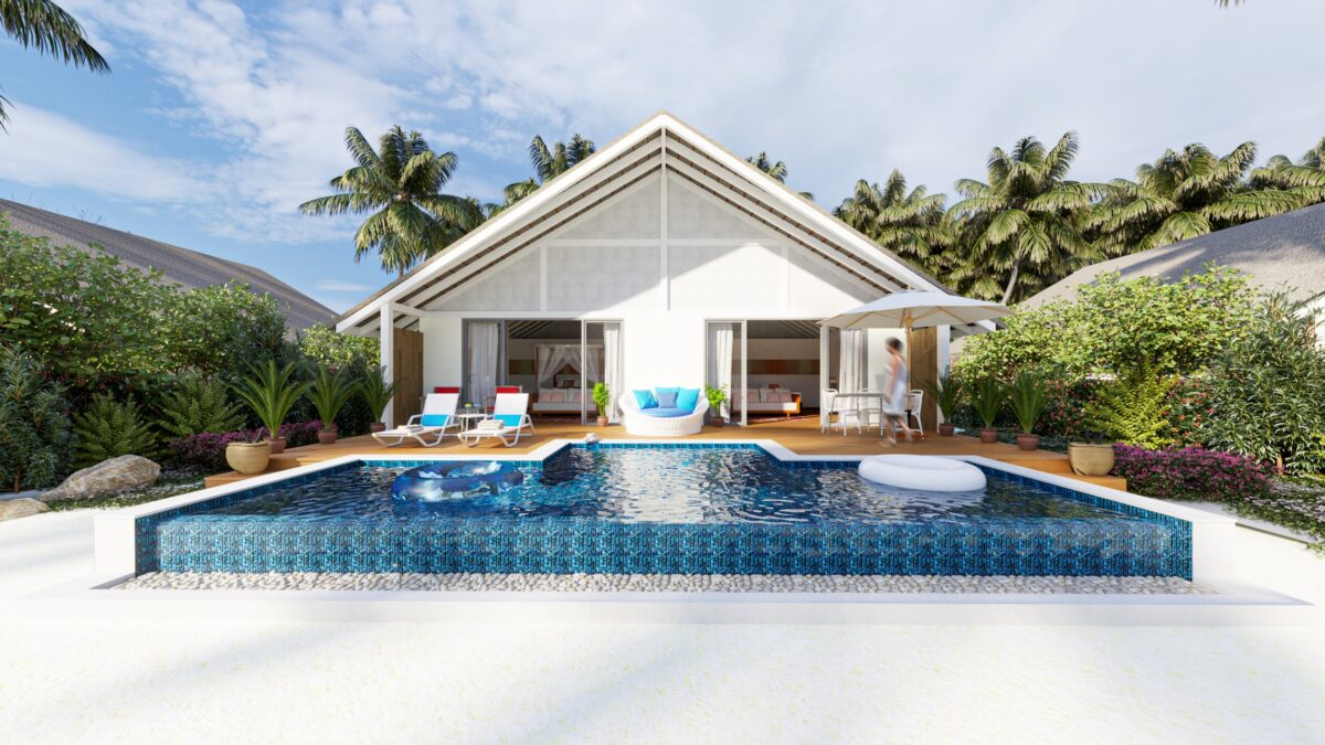 Wellness is priority at Cora Cora Maldives even down to the accommodation (Two bedroom family beach pool villa pictured)