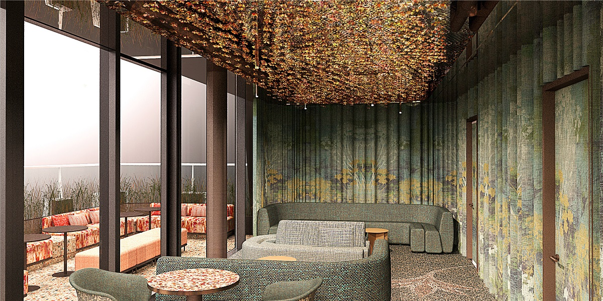 Florattica - the rooftop urban hangout with the design inspired by floral patterns created by the Huguenot silk weavers