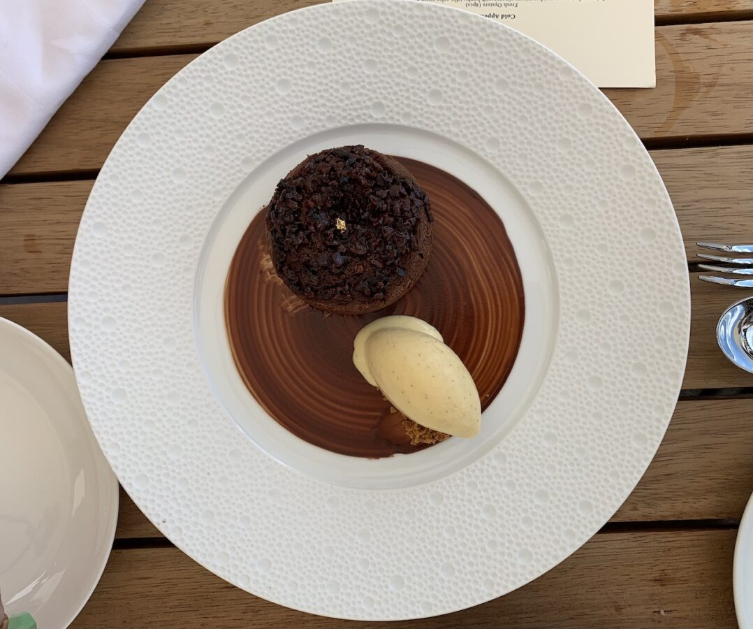 Bisushima's amazing chocolate fondant oozing in all the right places!