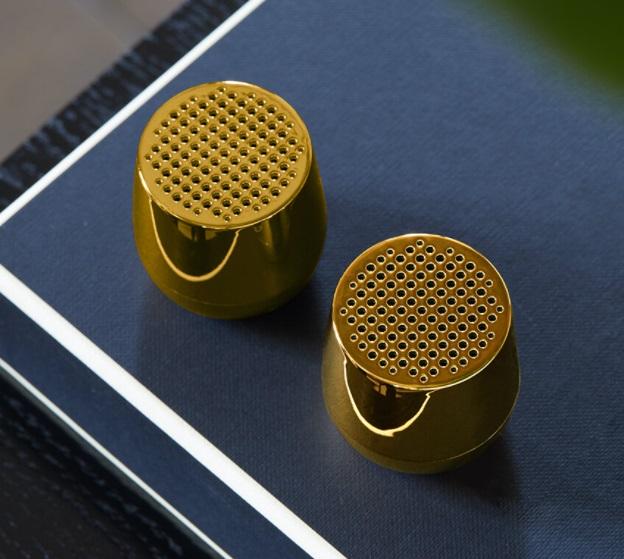 LEXON Twin Mino+ Bluetooth Speaker Set - Metallic Gold, Amara £55