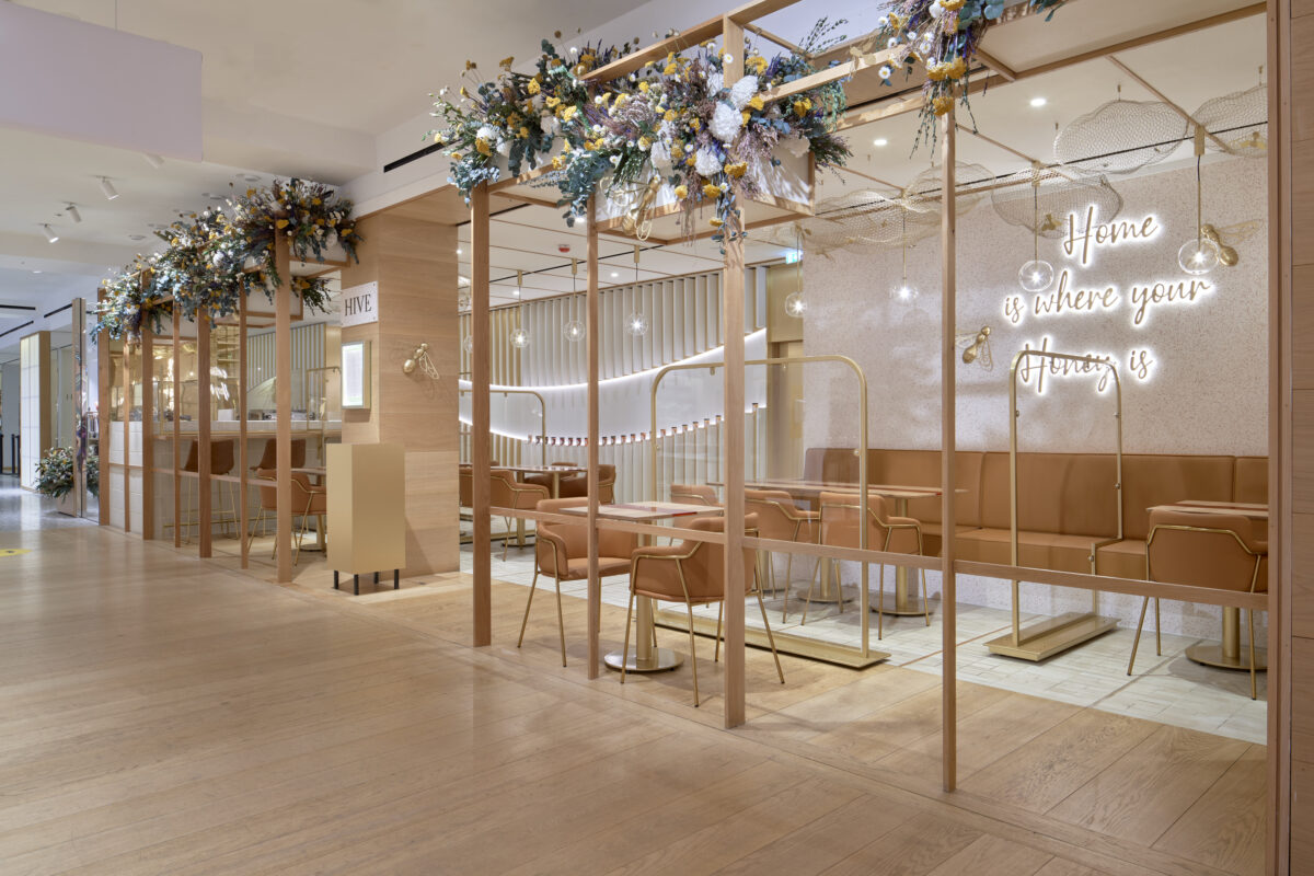 L'Atelier Five are behind the incredible design of Hive at Selfridges on the third floor of the department store