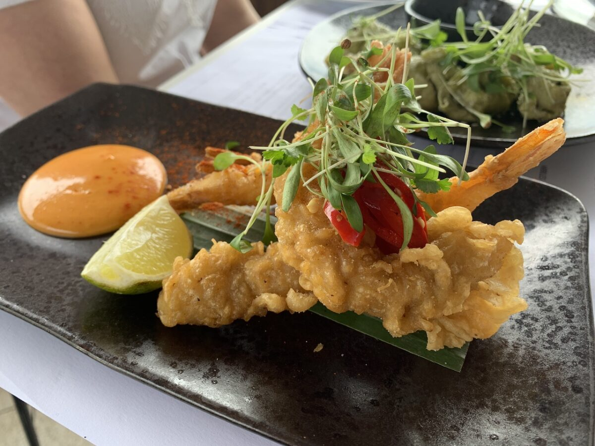 The Rooftop's Asian influenced small plates like Prawn Tempura are perfect for sharing!