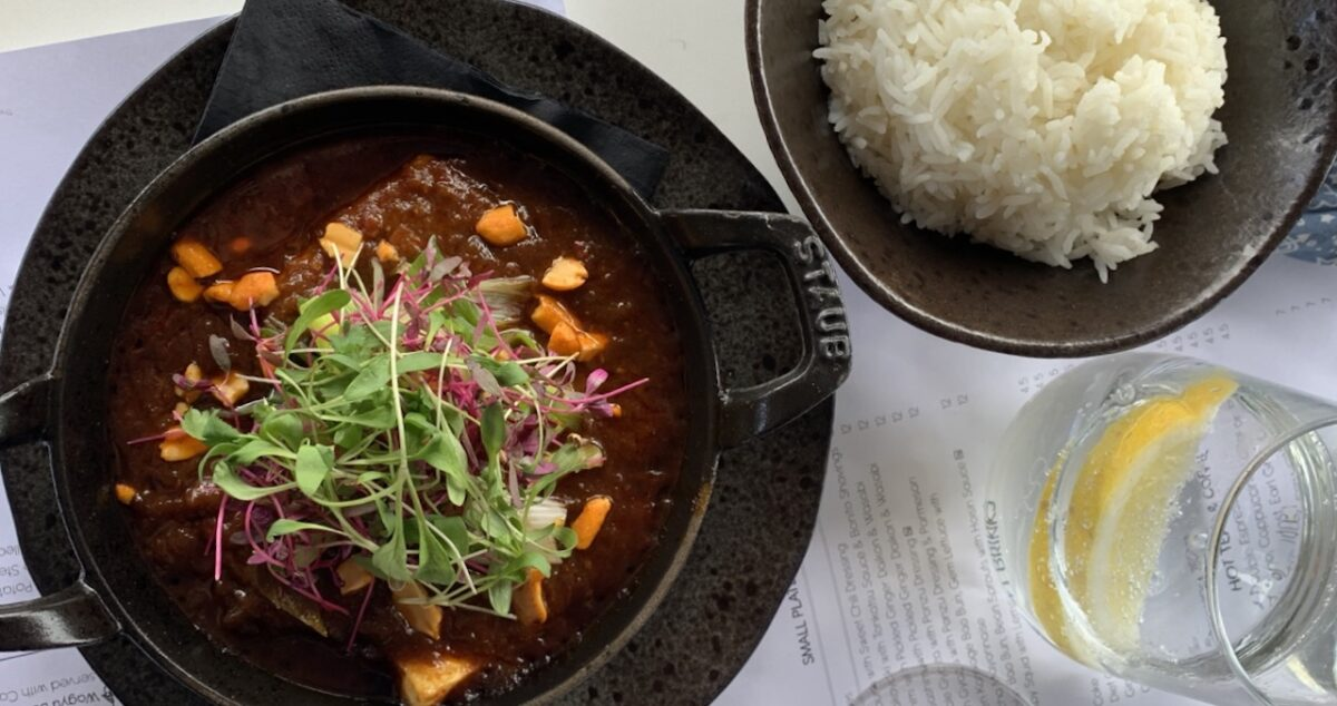 The Rooftop's Mafo Tofu main packed a punch with veggie flavour
