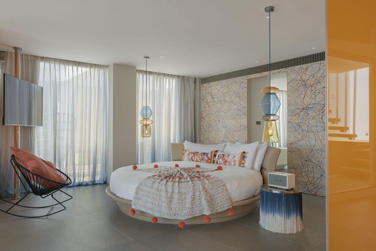 is this Ibiza's coolest hotel room?  The Extreme Wow Suite at W Ibiza in Santa Eulalia