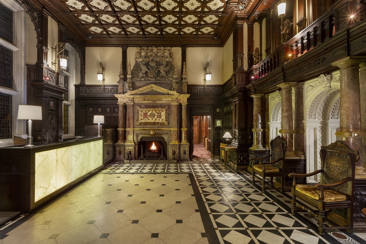 The grand Reception Hall at Crewe Hall dates back to 1870