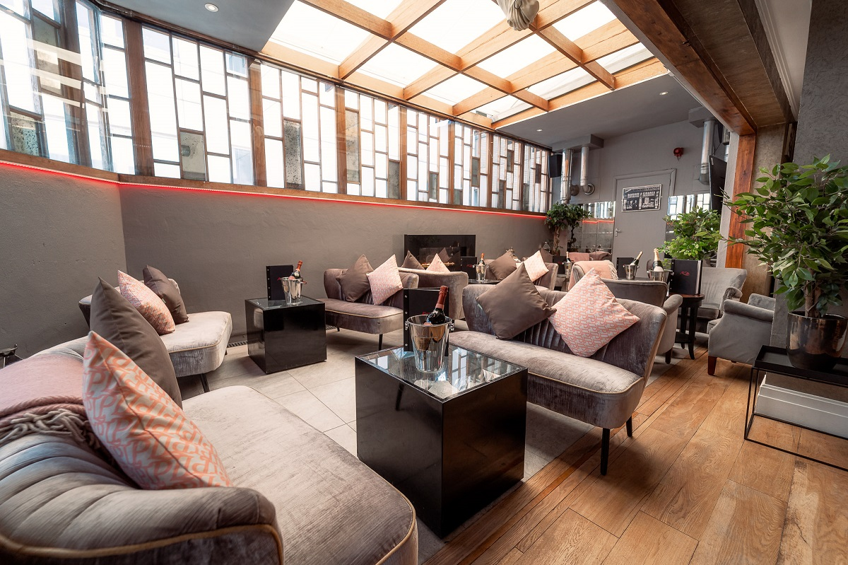 Karma Sanctum Soho's roof terrace is London's best kept secret complete with under cover area, retractable roof, outdoor seating and all night hot tub!