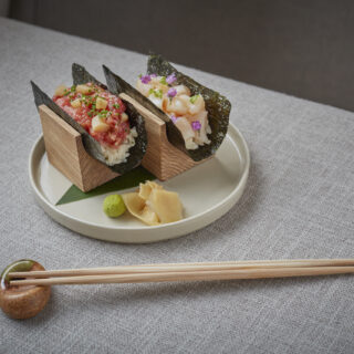 Sumi Notting Hill serves up beautifully prepared Japanese inspired dishes like sushi temaki (pictured) in relaxed surroundings