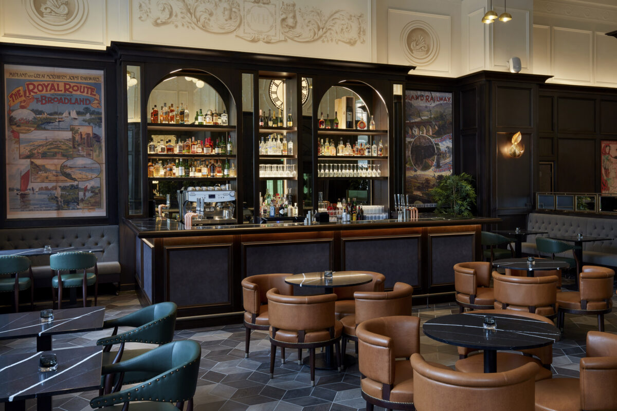 Mount Street Bar at the newly refurbished Midland Hotel Manchester