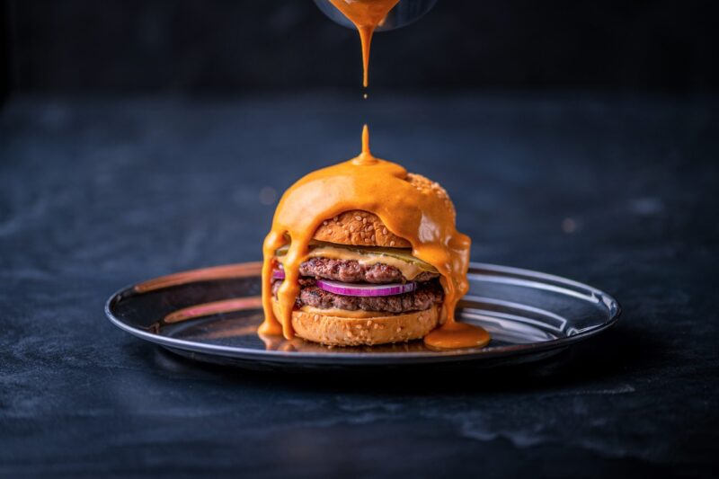 The irresistible Reverse Truffle Cheeseburger at Carnaby's Street's new Dirty Bones